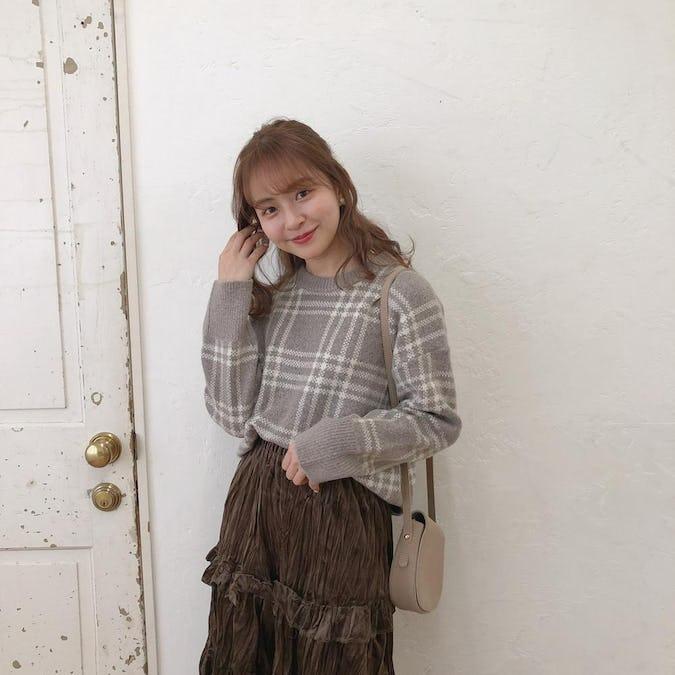 girly check knit