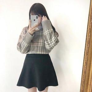 check mofu knit