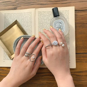 rose pearl nuance ring