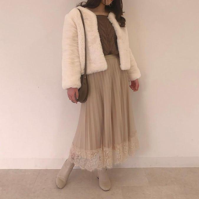 milk fur coat