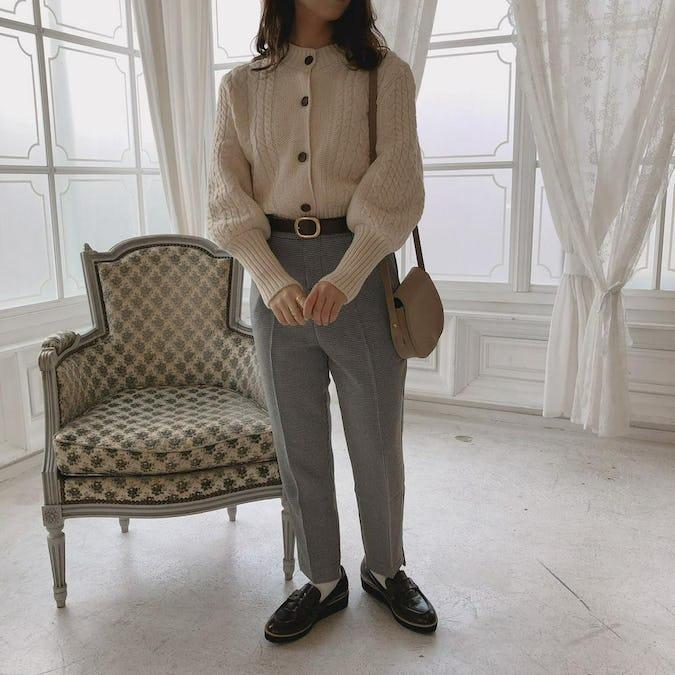 long cuffs cardigan