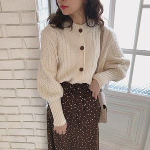 long cuffs cardigan