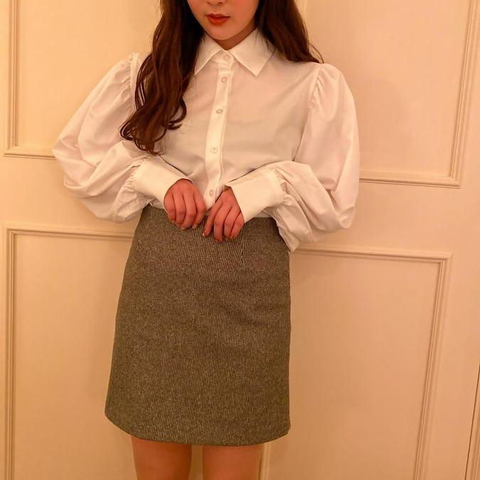 puff simple shirt