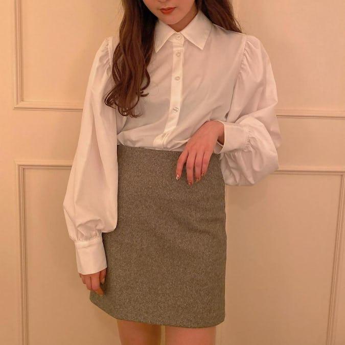 puff simple shirt-0