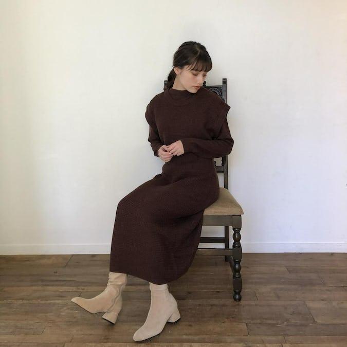 reve original knit onepiece set