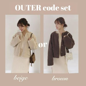 OUTER code set《boa coat ver》