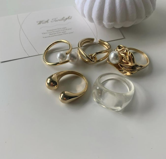 clear tulips set
