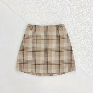 cookie check mini skirt