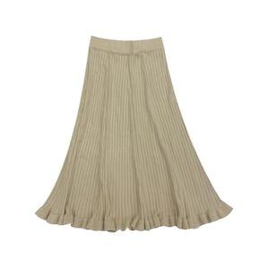 フリルニットロングスカート