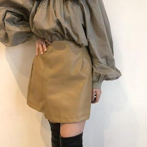 simple leather mini skirt
