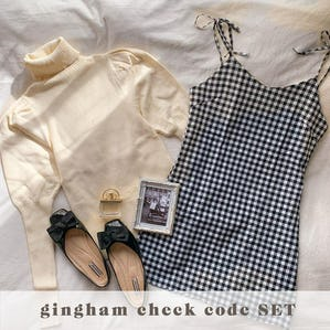 gingham check code SET