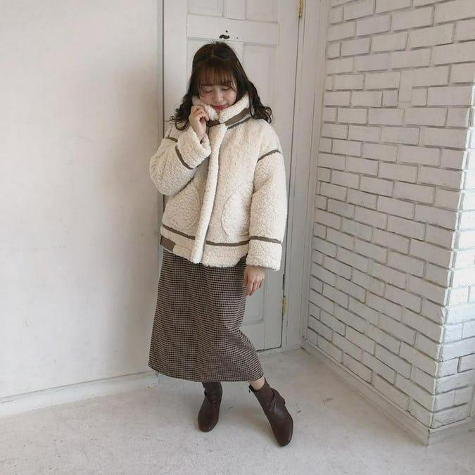 boa mouton coat SET