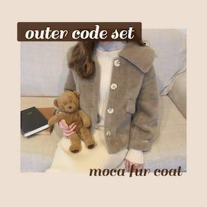 moca fur coat SET