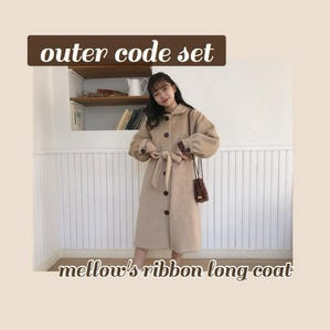 mellow's ribbon longcoat SET