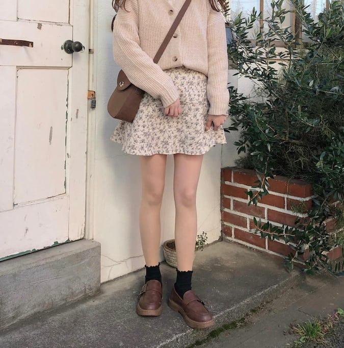 flower flare skirt-0