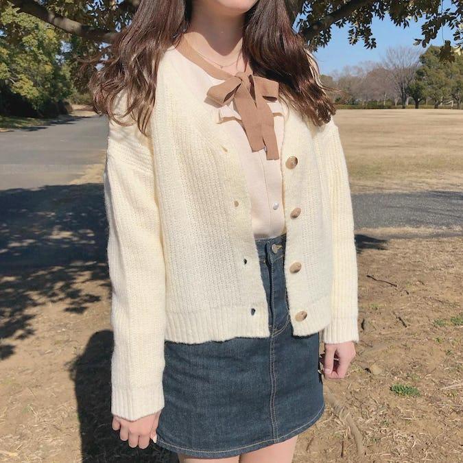 fril lribbon knit