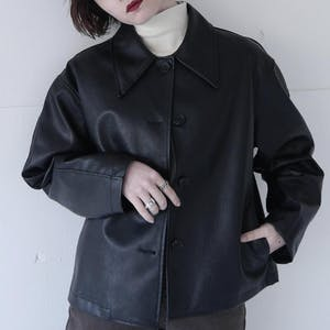 ブラックレザージャケット