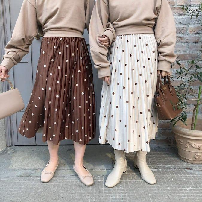 ラテドットスカート-0