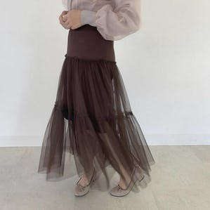 knit tulle skirt