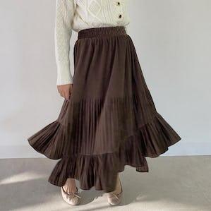 velvet fril skirt