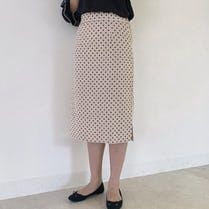 dot tight skirt