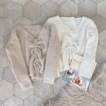 shaggy gather knit