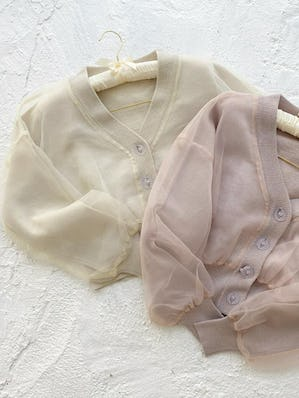 【2/28~順次発送】catty tulle cardigan
