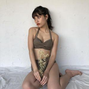 brown girly bikini