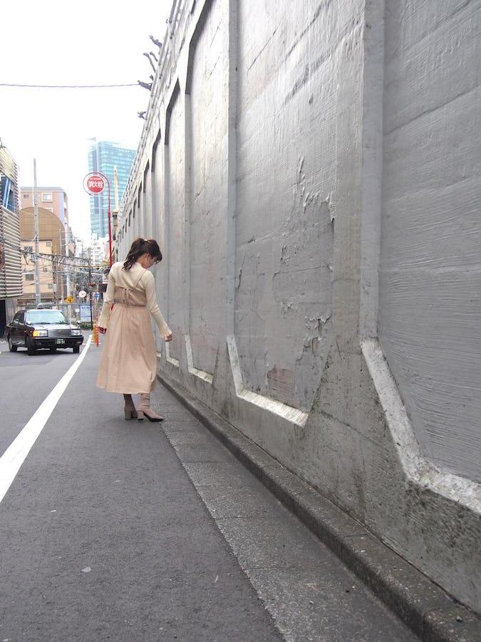 【felicità】バックリボンギャザーキャミワンピース