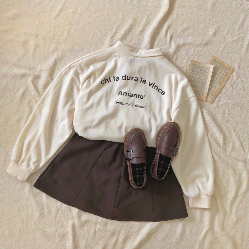 襟付きロゴTシャツの画像1枚目