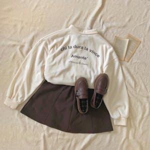襟付きロゴTシャツ
