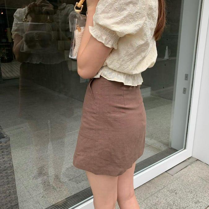 リネンミニスカート