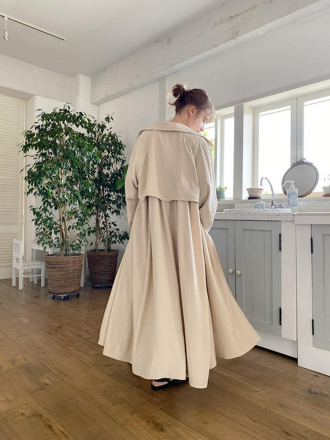 gown long trench coat