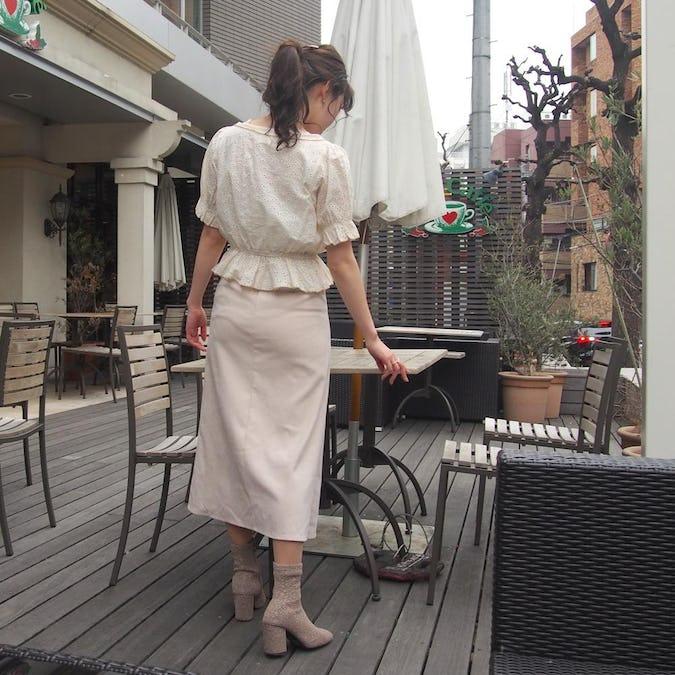 【オリジナル】 パイピングフラワーコットンブラウス