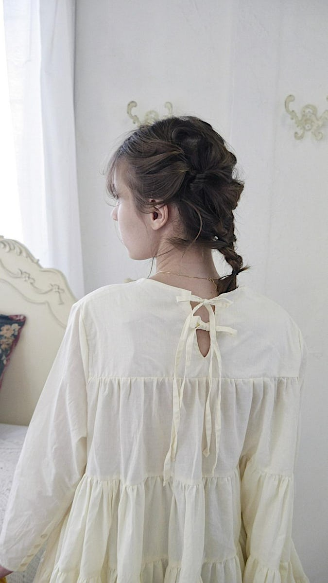 back ribbon mini  tiered op