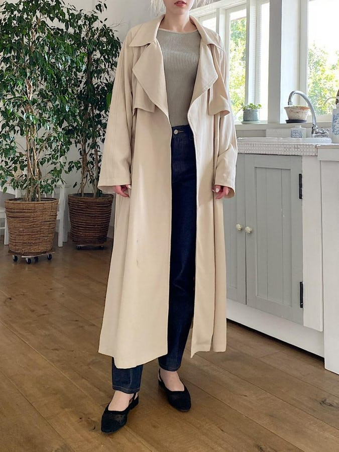 gown long trench coat-0