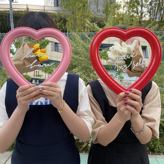 haruharu 韓国っぽハートミラー