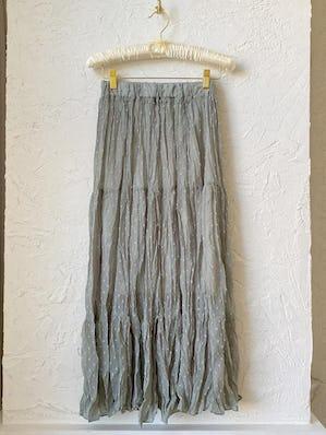 ドットシースルースカート