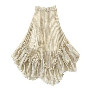 ゆらゆらドットスカート