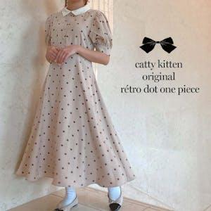 catty kitten レトロドットワンピース