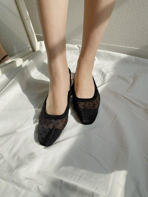 sheer dot  flat shoesの画像23枚目