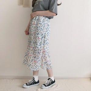 フラワーシフォンスカート