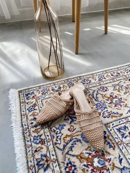 raffia flat sandalの画像1枚目