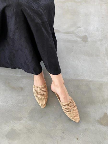 raffia flat sandalの画像10枚目