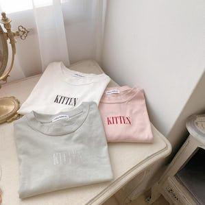 catty kittenグリッターロゴTシャツ