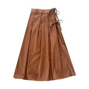 ブラウンリボンスカート