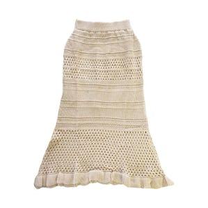 パンチングニットスカート