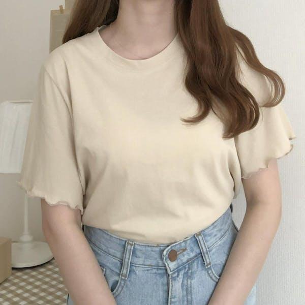 メロウフリルTシャツの画像1枚目