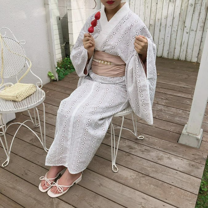 mellow's コットンレース浴衣