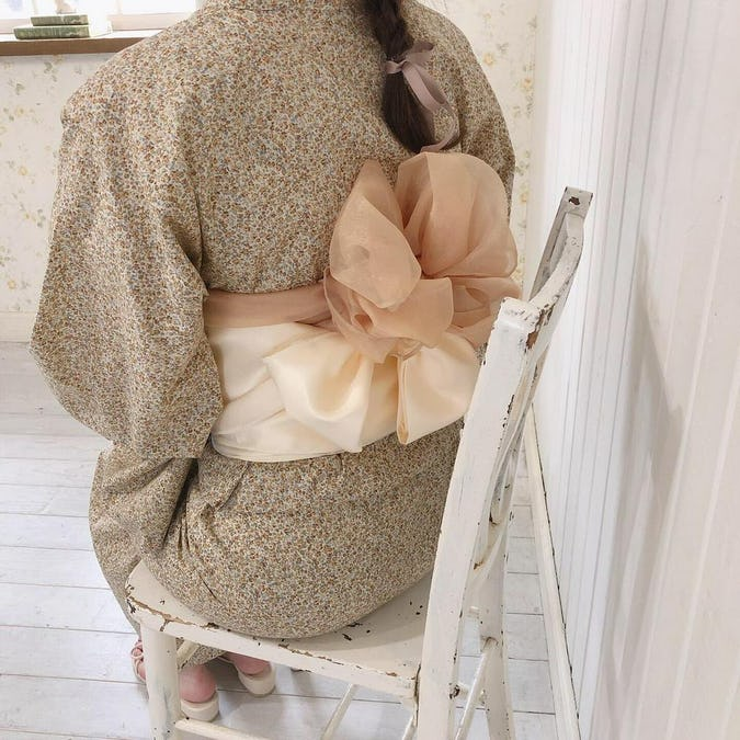 mellow's ベージュ浴衣